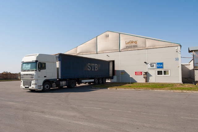 A truck loading at TWI's Almaty logistics facility.