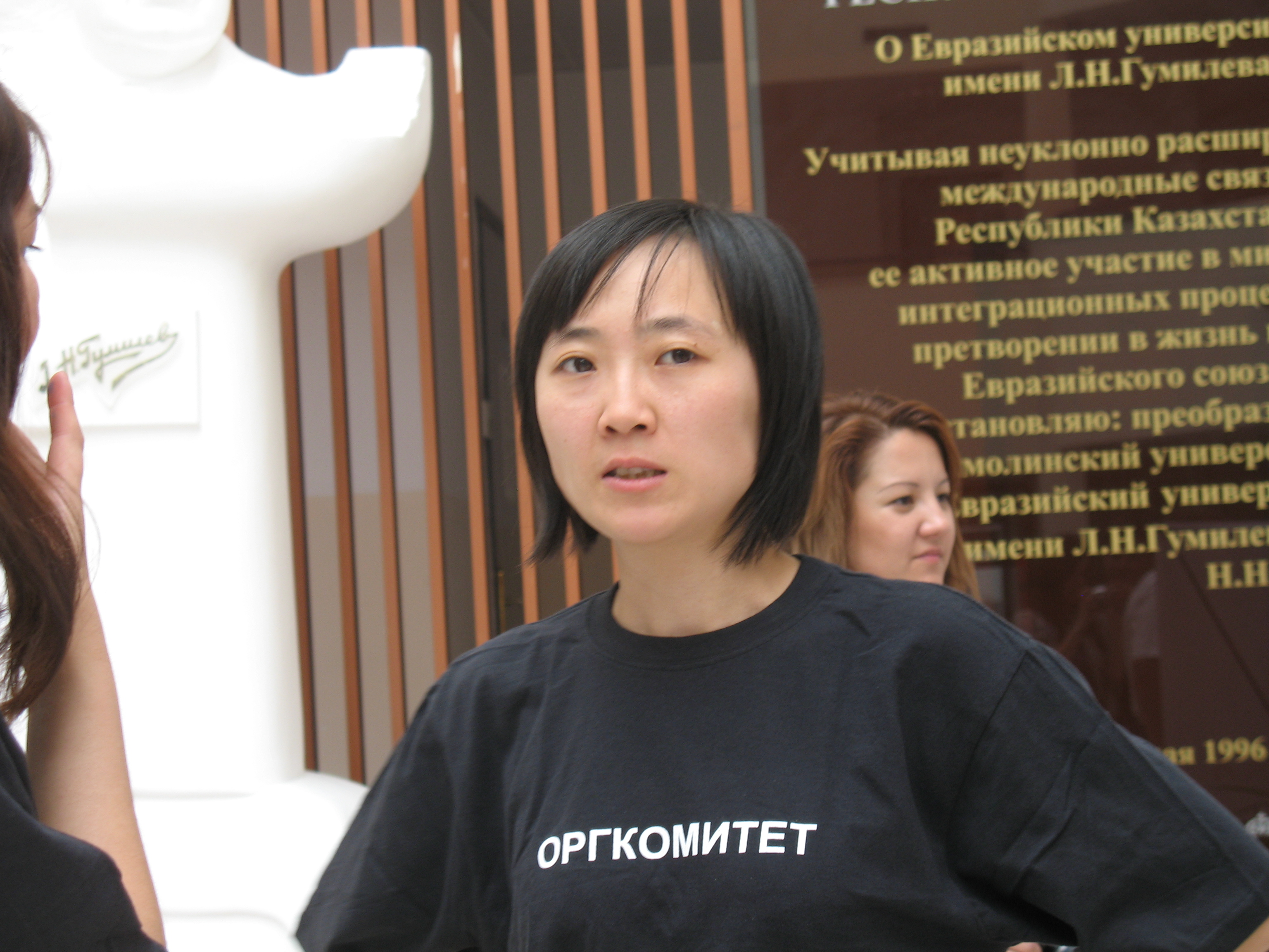 Vera Kim at Social Camp Astana, a national conference of non-profit organizations, in 2010. Photo courtesy of Vera Kim