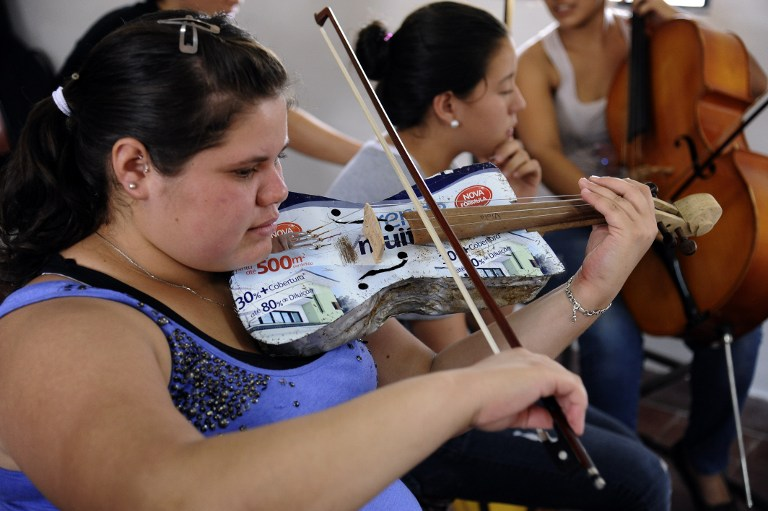 Paraguay group turns garbage into sweet melodies