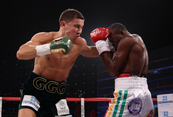 Golovkin started the bout confidently. ©Sumio Yamada