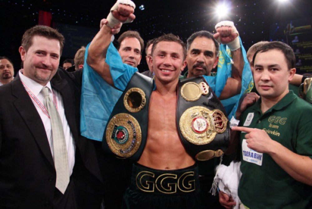 Golovkin defended his WBA and IBO Middleweight titles. ©Sumio Yamada