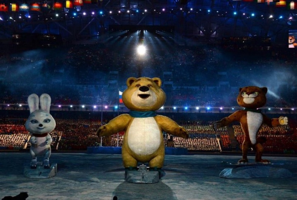 The Sochi Winter Olympic games official mascots, the Leopard, the Polar Bear, and the Hare. ©sochi2014.com