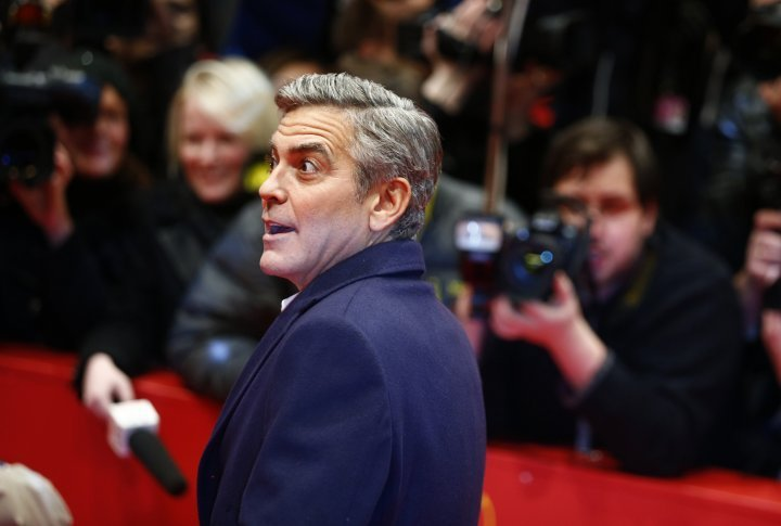 George Cloony on the red carpet of the Berlinale. ©Reuters