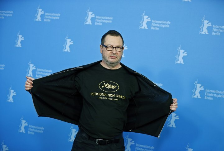 The world premier of <i>Nymphomaniac Volume I</i> by Lars von Trier took place at the 64th Berlin Film Festival. The Danish director wearing a jersey saying 'persona non grata'. ©Reuters