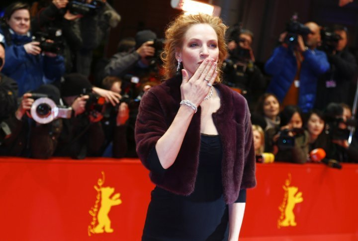 Uma Thurman on the red carpet of the Berlinale. ©Reuters