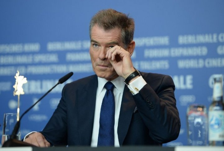Actor Pierce Brosnan at the press-conference. ©Reuters