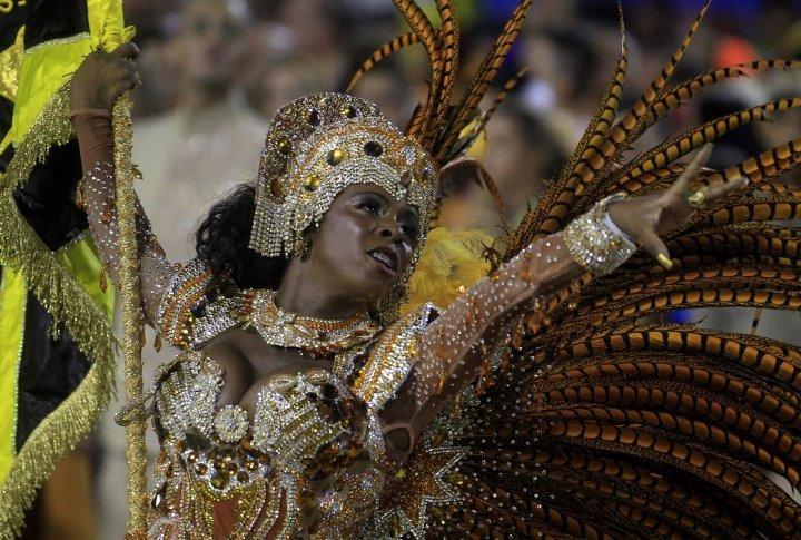 Reveller of the Sao Clemente samba school. ©Reuters