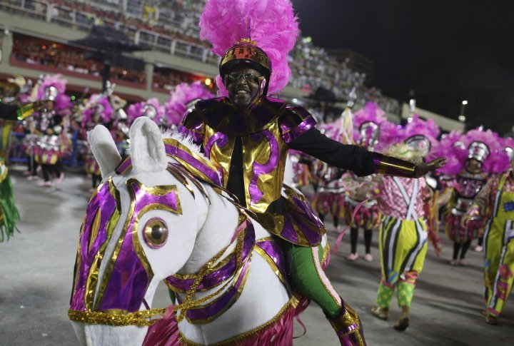 Revellers of the Mangueira samba school. ©Reuters