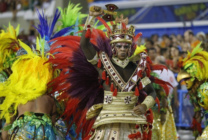 Reveller of the Salgueiro samba school. ©Reuters