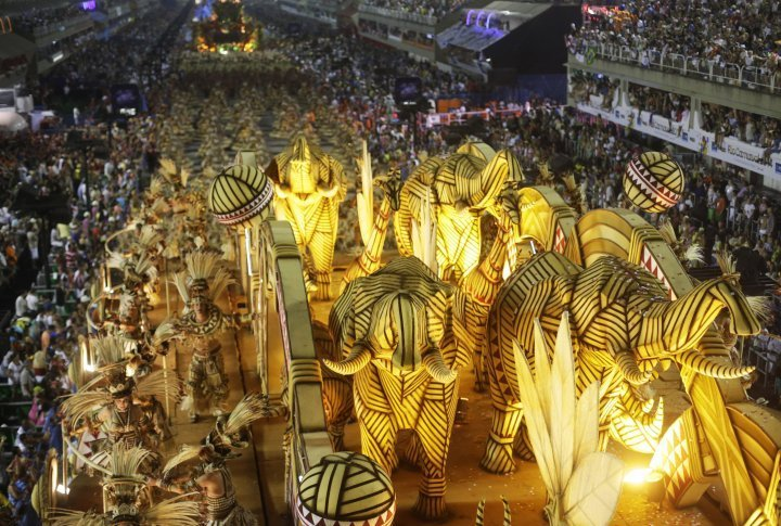 Revellers of the Salgueiro samba school. ©Reuters