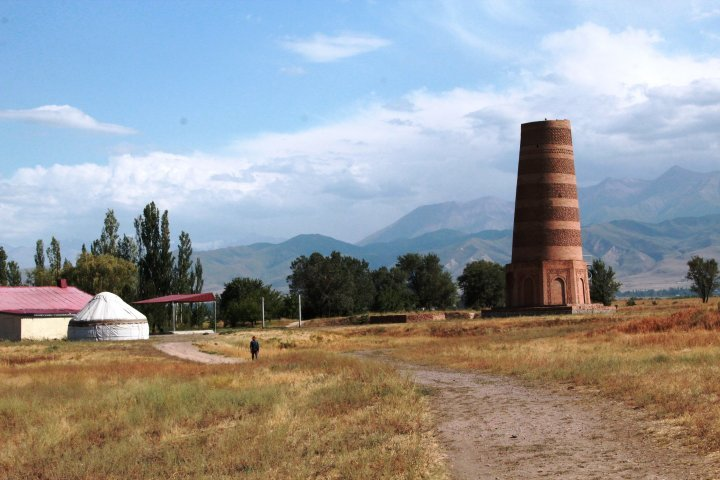 This structue in Kyrgyzstan is called Burana Tower. Its purpose is still unknown. The structure dates back to the X-XI centuries A.D. ©Vladimir Prokopenko