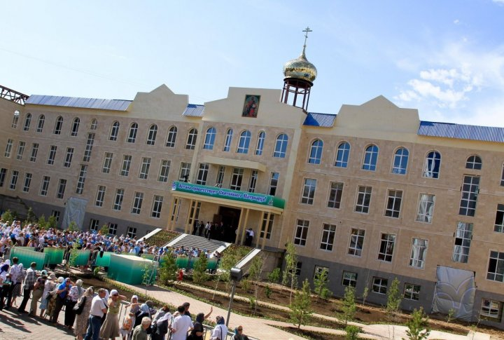 The newly-built building of the Synod of Kazakhstan's Orthodox Church and the spiritual center. Photo by Danial Okassov©