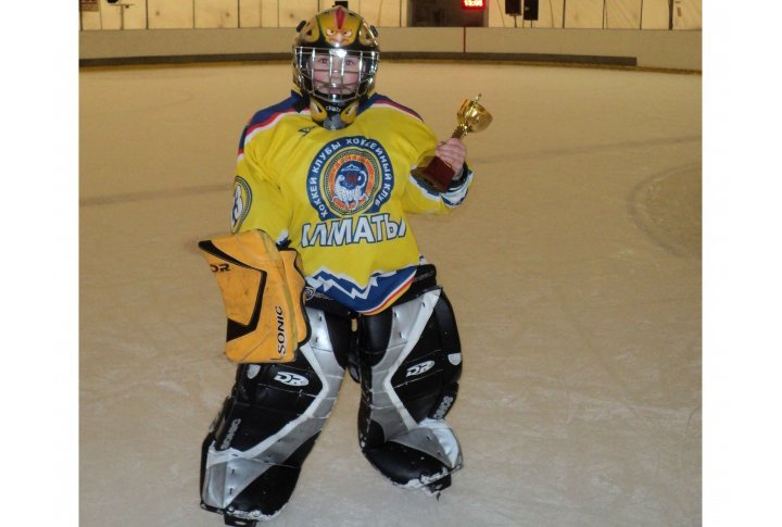 Ilya Yakovenko, best goaltender of the tournament. Photo by Bauyrzhan Kairbekov©