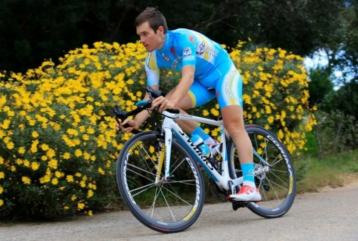 Evan Hoffman (the U.S.). Photo courtesy of Astana cycling team's Facebook page