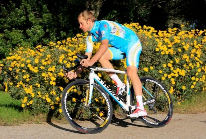 Andrey Kashechkin (Kazakhstan). Photo courtesy of Astana cycling team's Facebook page