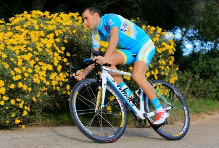 Vincenzo Nibali (Italy). Photo courtesy of Astana cycling team's Facebook page