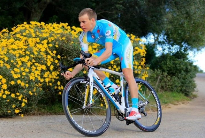 Yegor Silin (Russia). Photo courtesy of Astana cycling team's Facebook page