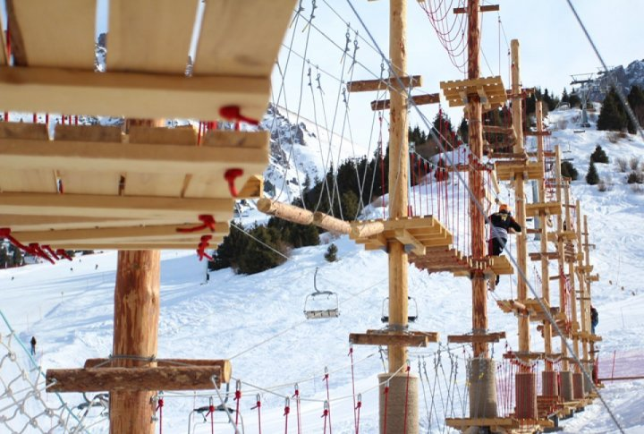 Professional Rope Park Kazakh Alpine Park has opened at Shymbulak. Photo by Yaroslav Radlovskiy©