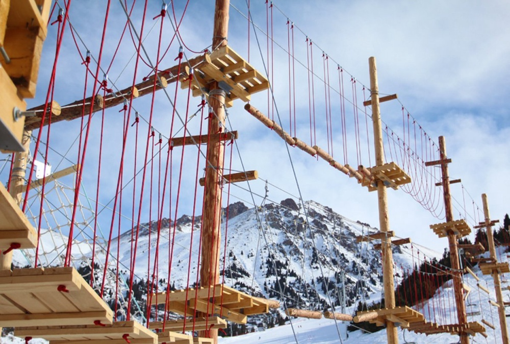 Professional Rope Park -- Kazakh Alpine Park -- has opened at Shymbulak. Photo by Yaroslav Radlovskiy©