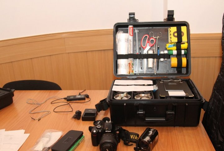 Portable sets for criminalists. ©Tengrinews.kz