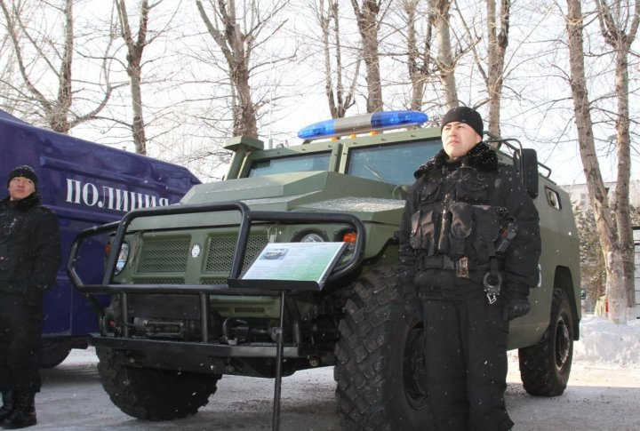 Special vehicles of Kazakhstan Interior Ministry. ©Tengrinews.kz