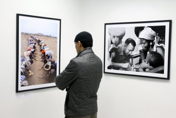 This exhibition shows a slice of the era and the history of the world over 70 years. 49 shots made by UN photographers are presented at Photokina exhibition in Cologne, Germany.