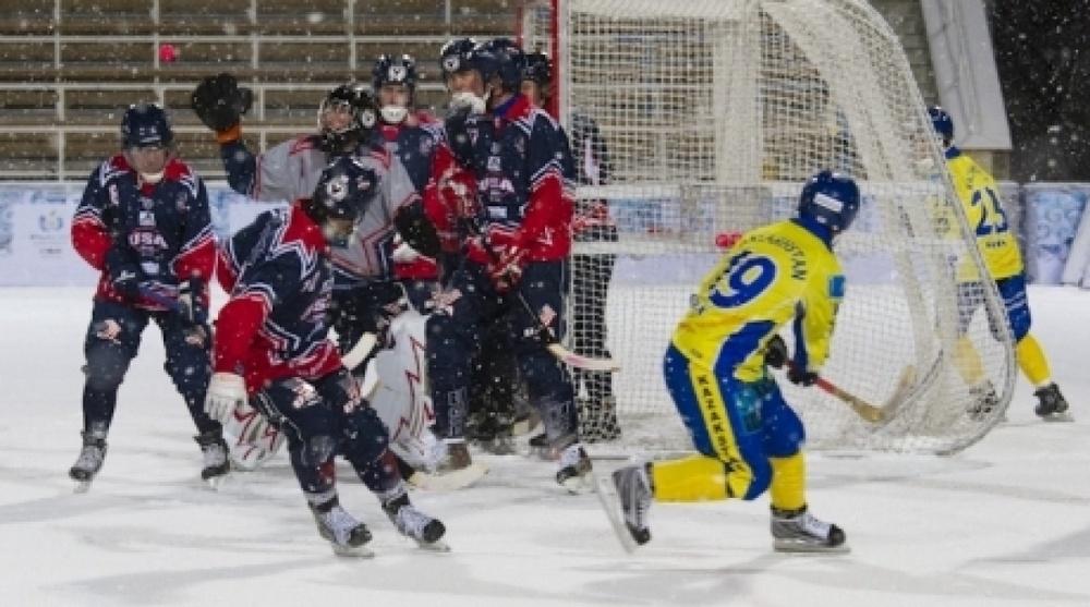 Photo Match Kazakhstan Usa Part Almaty Bandy