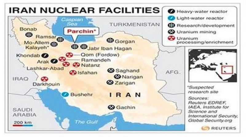 Map of Iran's nuclear facilities. ©REUTERS