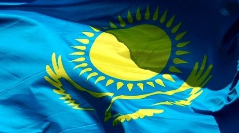 Kazakhstan flag. Photo by Gizat Makkhanov©