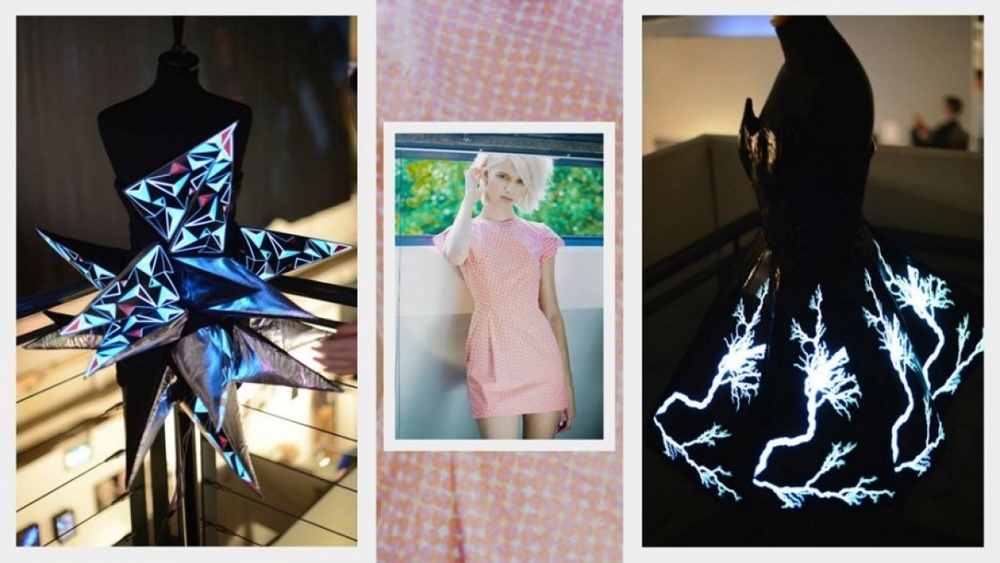 Fiber optic dress changes color on a whim