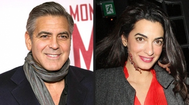 George Clooney and Amal Alamuddin. Photo courtesy of people.com