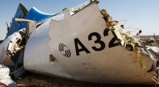 The wreckage of Kogalymavia's Airbus A321 passenger airliner. ©RIA Novosti
