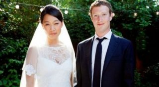 Priscilla Chan and Mark Zuckerberg. Photo from facebook page of Mark Zuckerberg