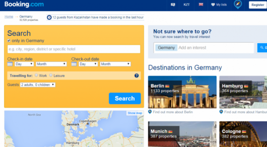Booking.com website screenshot