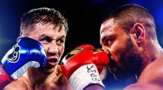 Gennady Golovkin vs Kell Brook. Photo courtesy of GGGBoxing at Twitter.com