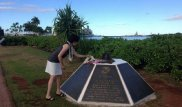 The wife of Prime Minister Shinzo Abe has visited Pearl Harbor. Photo courtesy of Akie Abe's Facebook