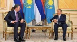 Nazarbayev  discussed agreements with Serbian PM