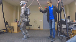 Space-bound Russian android shows handyman skills