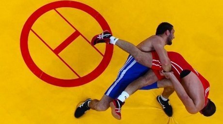 Kazakhstan Greco-Roman wrestler Daniyal Gajiyev won bronze at London Olympics-2012. ©AFP