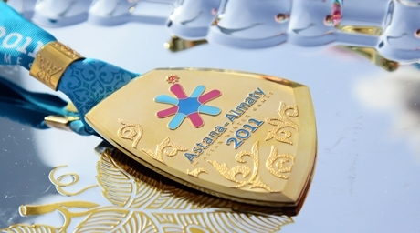 Golden medal of Asian Winter Games 2011. Photo by Yaroslav Radlovskiy©
