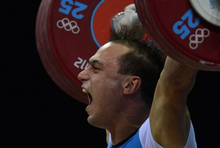 Kazakhstan weightlifter Ilya Ilyin at London Olympics-2012. ©AFP