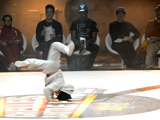 6-y.o. BGirl taking part in the battle