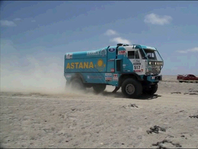 Astana team at the fourth stage of Dakar-2013